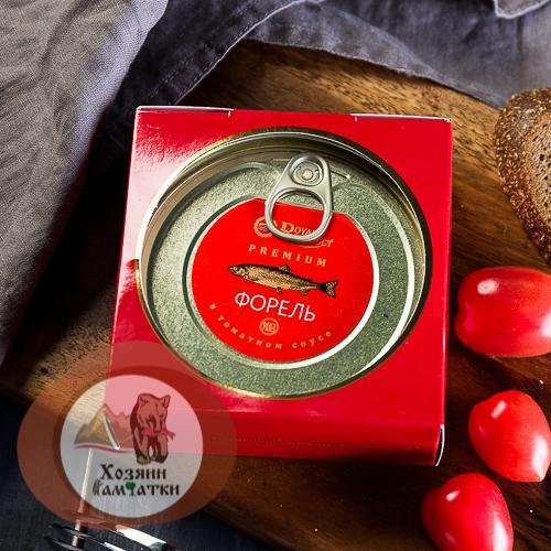Форель Радужная в томатном соусе, 240г.