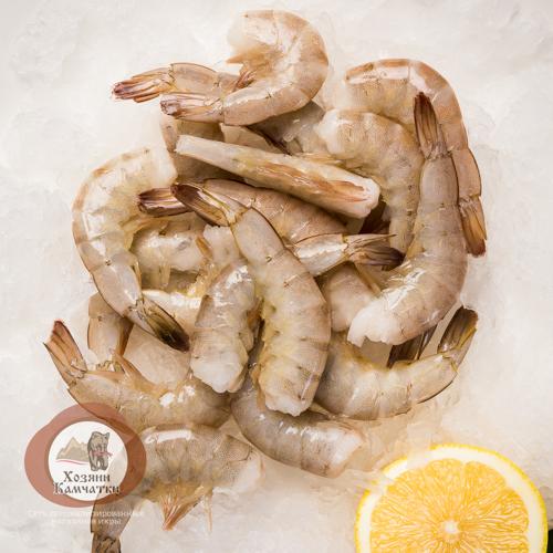 Креветка Тигровая св/м (в панцире, без головы), 1 кг.