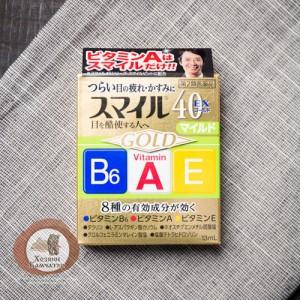 Японские освежающие капли  Lion Smile 40EX Gold с таурином и аминокислотами- Витамины для глаз.