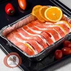Форель фаршированная креветками, апельсинами, помидором под сливочным соусом, 100 ГР
