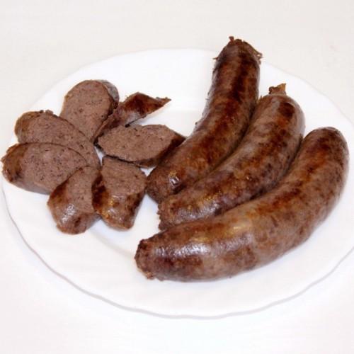 """Колбаски для жарки из оленины """"Попурри"""", с/м, в/у 4 шт/0,6кг"""