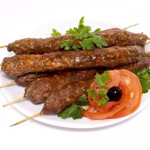 Люля-кебаб из оленины с овощами на шпажке, 0.6кг.